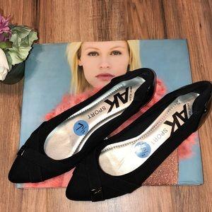 Anne Klein Sport Black Flats 7 1/2